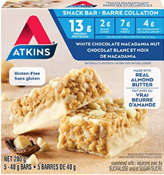 KETO 1008 Atkins White Macadamia Nut Snack Bar