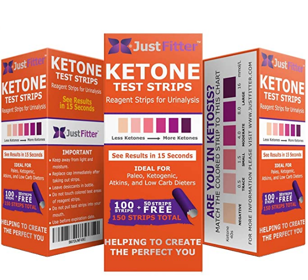 KETO Ketone 150 Urine Test Strips