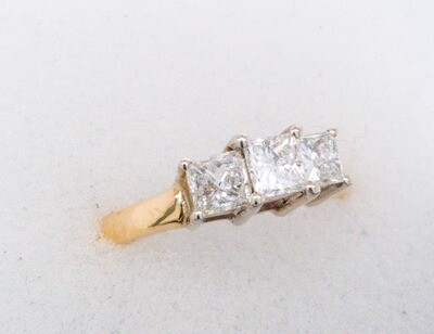 14k Princess Cut 1ctw R3900
