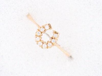 810-100-201203 Gold Horseshoe Ring
