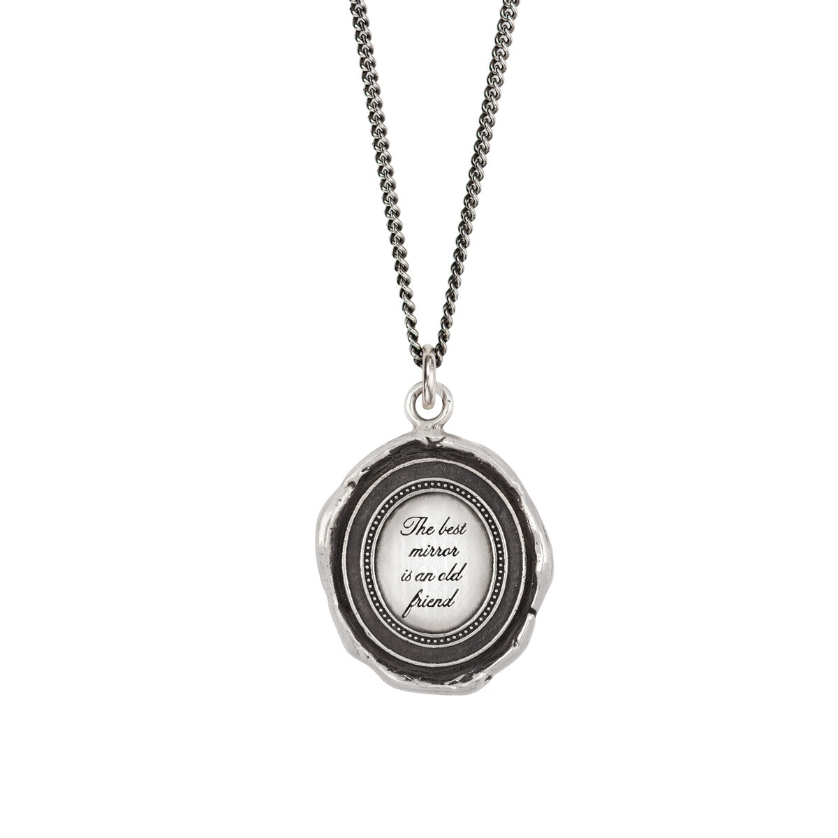 PYRRAH Mirror Pendant with Necklace