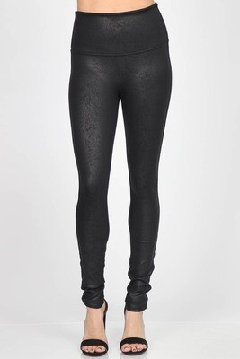100-LETHERETTE BLACK LEGGINGS