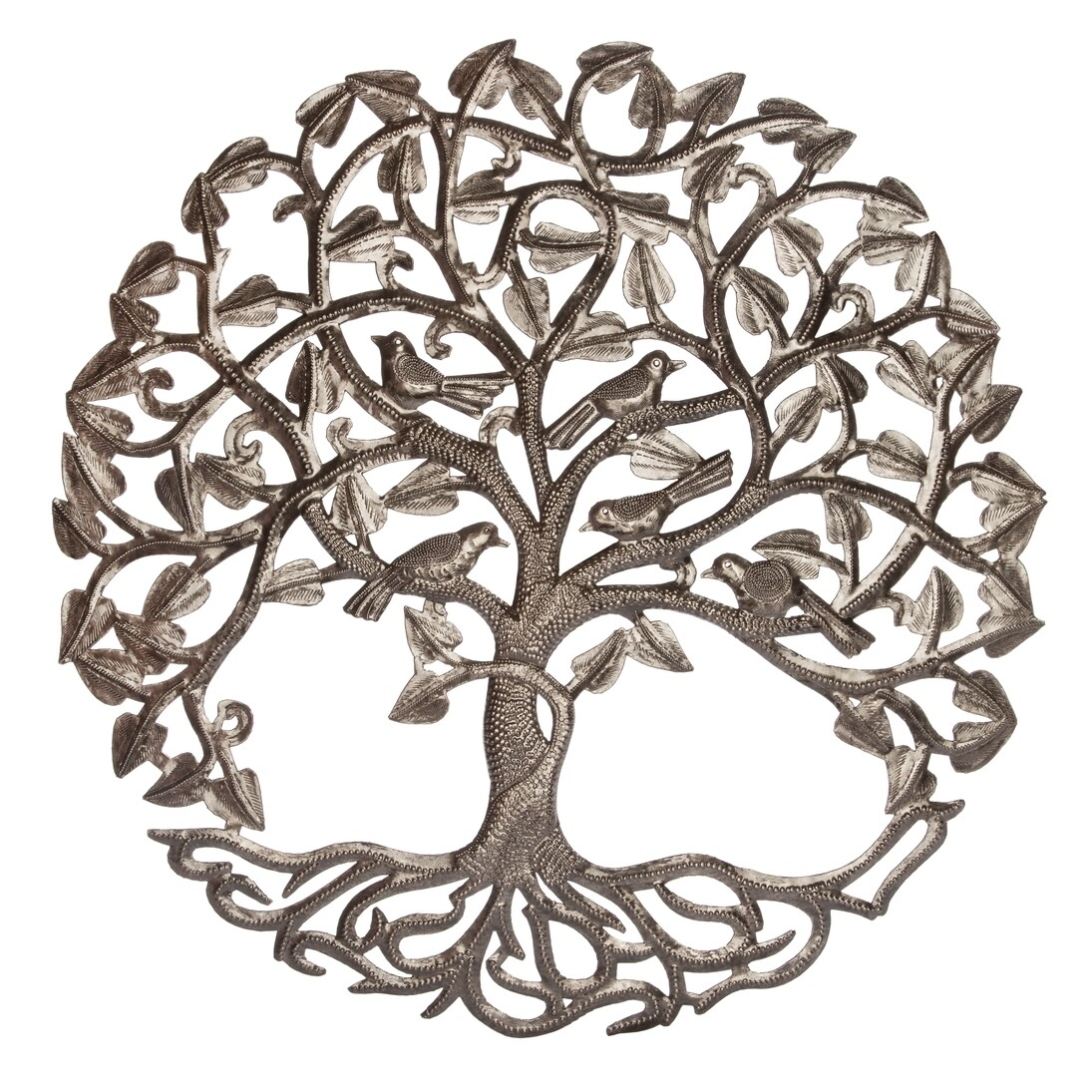 600-RND313 Perpetual Tree of Life - Hand forged in Haiti
