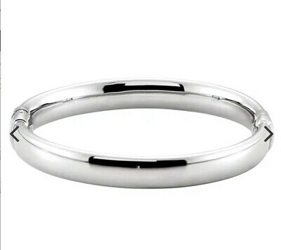 BRC687-37 HINGED STERLING BANGLE
