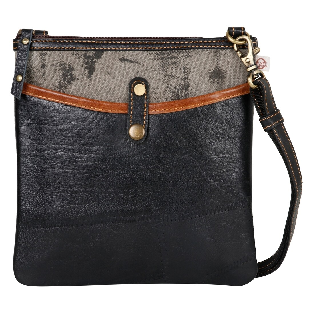 600-VG1014-P15 Mini Pat Grey - Upcycled Genuine Leather r65