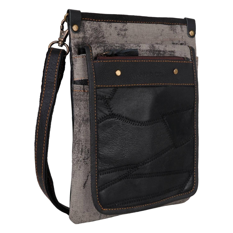 600-VG1002-P15 Vela Grey - Upcycled Genuine Leather