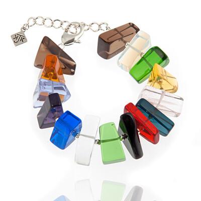 800-GLSY-B1 Stained Glass Gem Bracelet R60