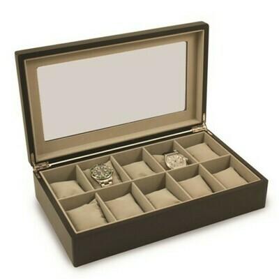 Watch Box Matte Black Wood