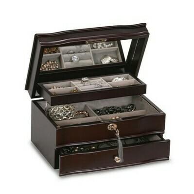 643-32-GM18963 Mahogany Jewellery Music Box