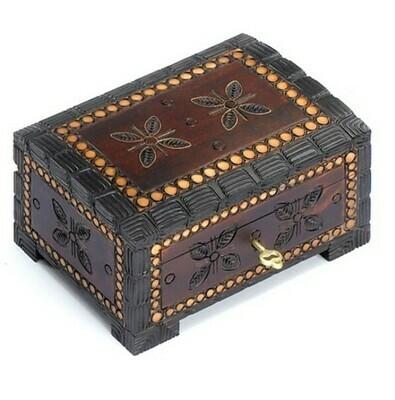 643-32-GM16148 Locking Wood Box w/Flowers
