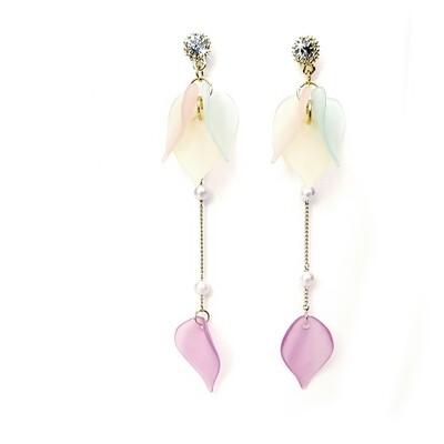 Earrings Soft Petal Drop Multi