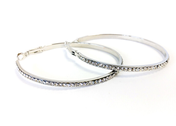 Earrings Crystal Oval