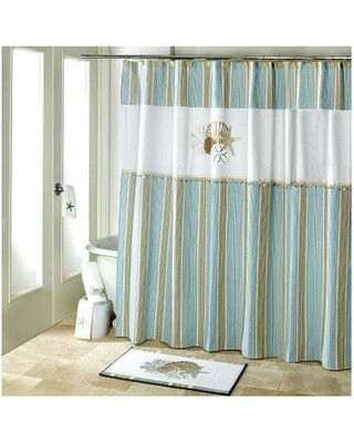 600-13675H Avanti By the Sea Shower Curtain R80