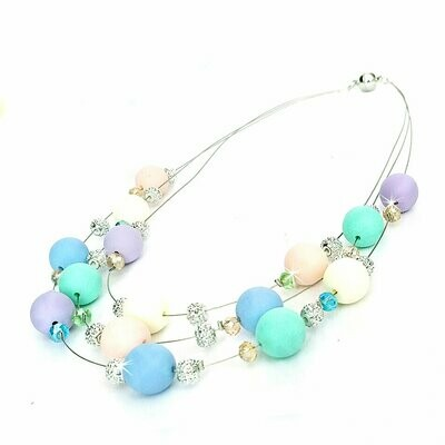 700-JKN580 NECKLACE PASTEL BUBBLES N30