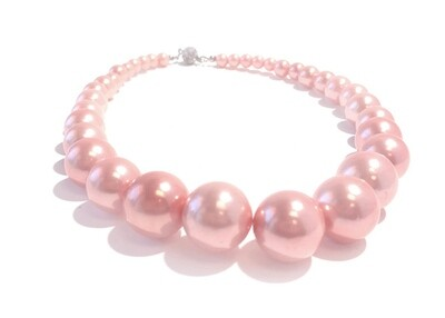 700-JKN431 NECKLACE FLINTSTONE PEARLS R40