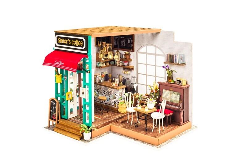 Simon's Coffee DIY Miniature Dollhouse Kit
