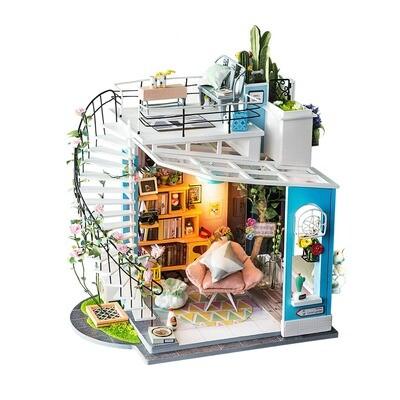 Dora's Loft DIY Miniature Dollhouse Kit