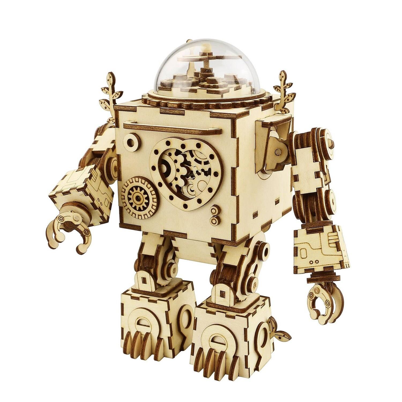 Steam Punk DIY 3D Wooden Puzzle Music Box: Orpheus
