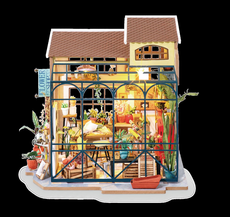 Flower Shop DIY Miniature Dollhouse Kit