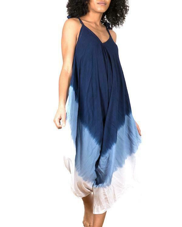 SUZIE BLUE | Ombre Romper 200-122-LS1002BU