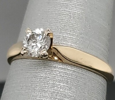 Solitaire Ring	14k 880-2103R11	sz 6.25	1.8mm band