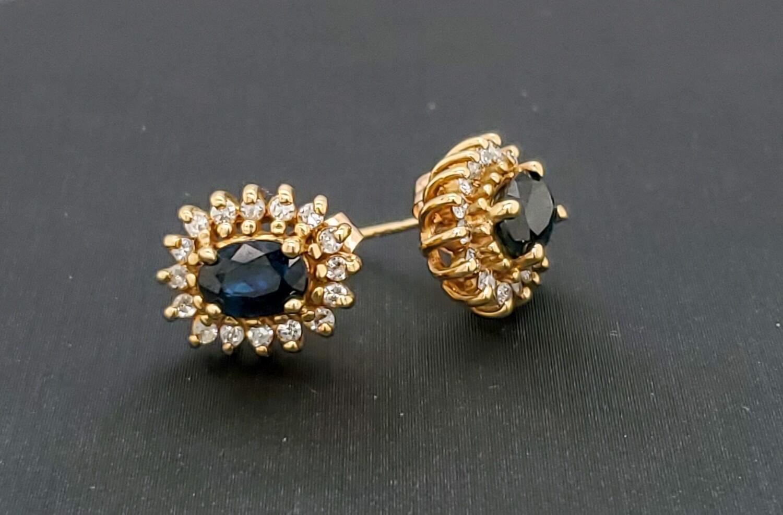 Sapphire Earrings10k 880-2103E02