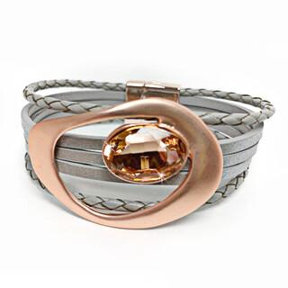 730-22-JKB441 JQ Oval stone bracelet R30