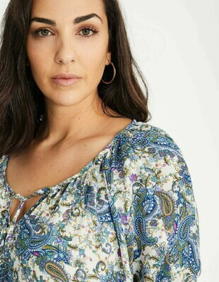 SPG PAISLEY TOP WITH TIE