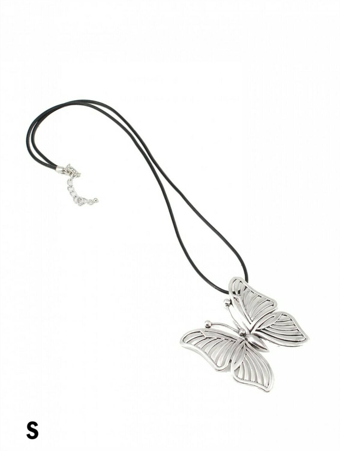 Tilted bUTTERFLY LONG NECKLACE