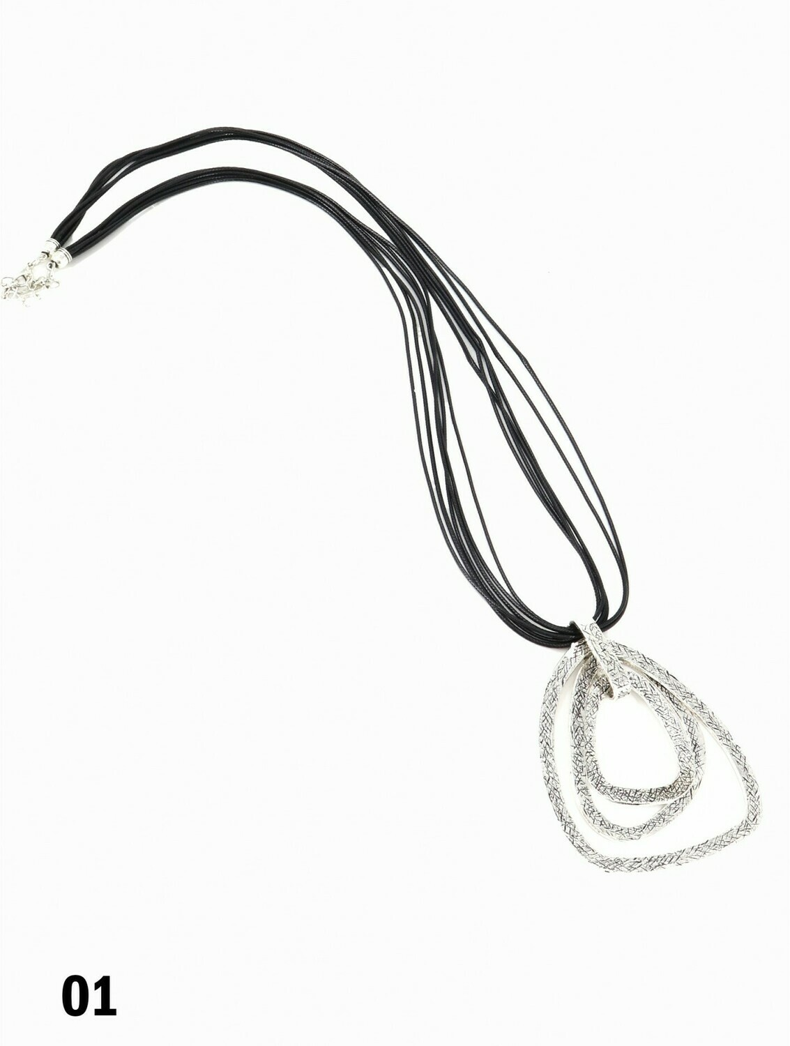 Multi-Rope Necklace W/Square Pendant