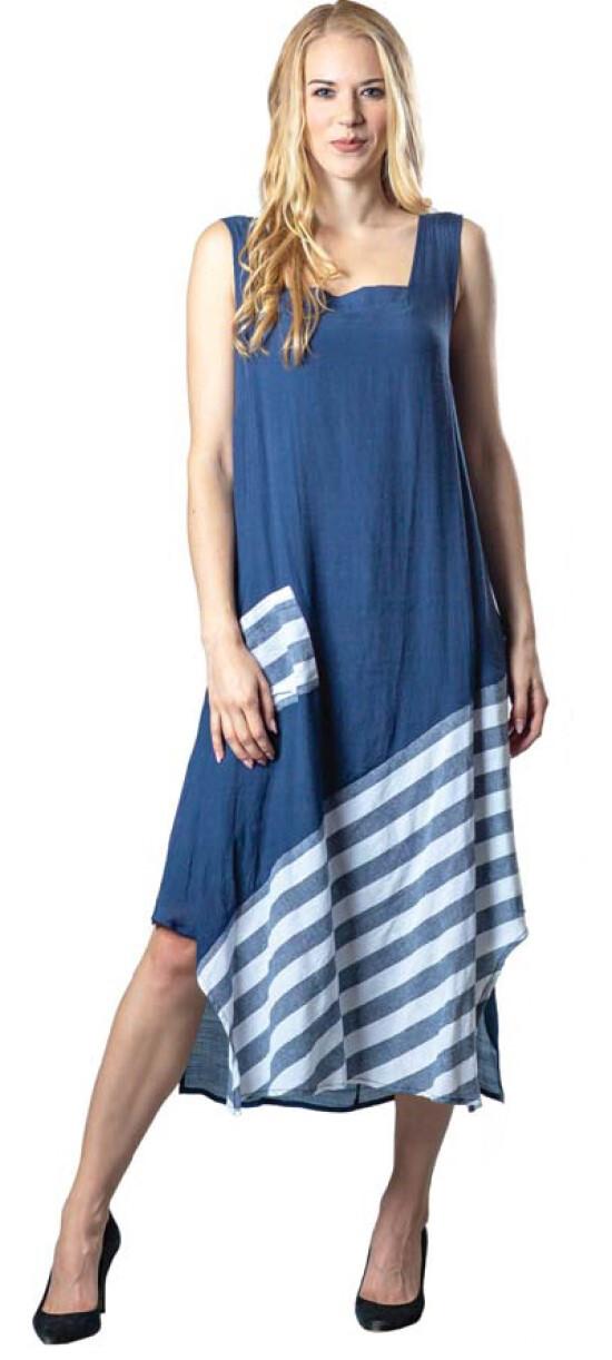 PAPA FASHION | Asha Navy Dress 210-69-T3633