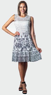 White Polka dot Dress | PAPA FASHION T3088 R90