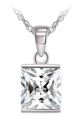 Crystal Solitaire Pendant | LEGEND L301P
