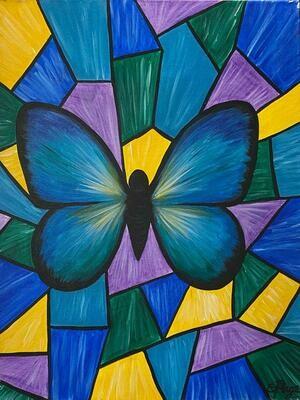 Kit de Pintura: Butterfly (Canvas Mediano 12x16)