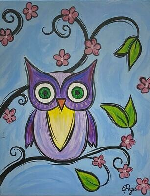 Kit de Pintura: Buhito (Canvas Mediano 12x16)