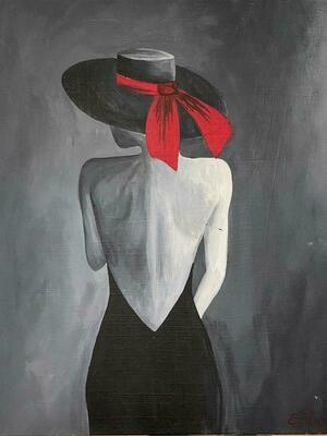 Kit de Pintura: Melena (Canvas Mediano 12x16)
