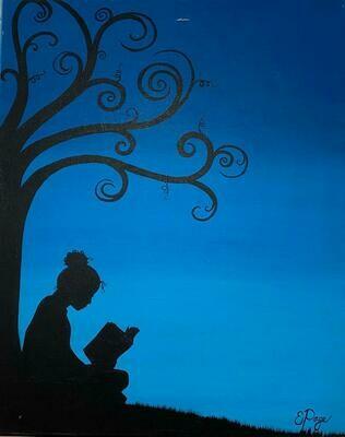 Kit de Pintura: Quiet Reading (Canvas Mediano 12x16)
