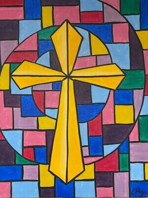 Kit de Pintura: Stained Glass (Canvas Grande 16x20)