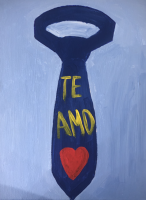 Kit de Pintura: Tie (Canvas Mediano 12x16)