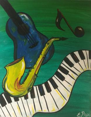 Kit de Pintura: Music Flies (Canvas Mediano 12x16)