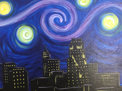 Kit de Pintura: Van Gogh in the City (Canvas Mediano 12x16)
