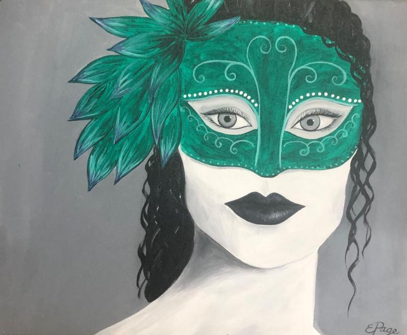 Kit de Pintura: Masquerade (Canvas Grande 16x20)