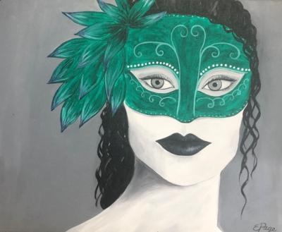Kit de Pintura: Masquerade (Canvas Mediano 12x16)