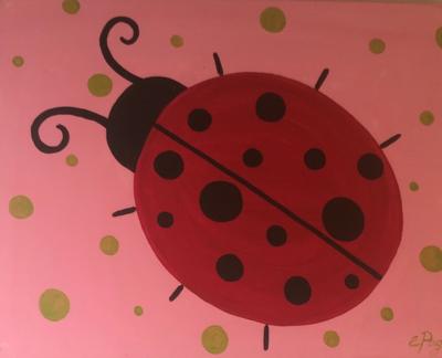 Kit de Pintura: Ladybug (Canvas Grande 16x20)
