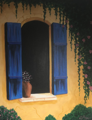 Kit de Pintura: Flowers by the Window (Canvas Mediano 12x16)