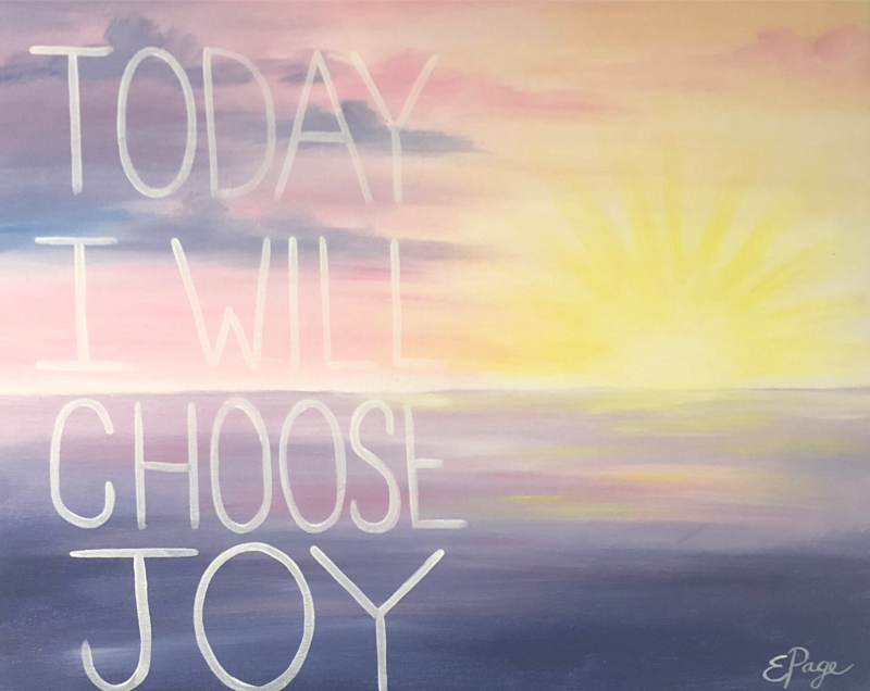 Kit de Pintura: Joyous Sunrise (Canvas Grande 16x20)