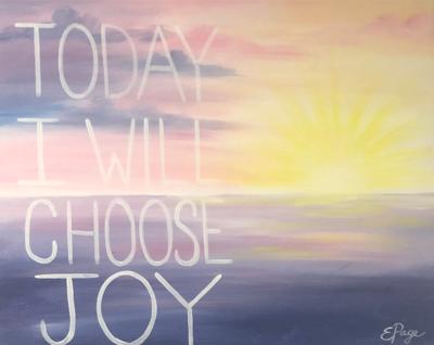 Kit de Pintura: Joyous Sunrise (Canvas Mediano 12x16)