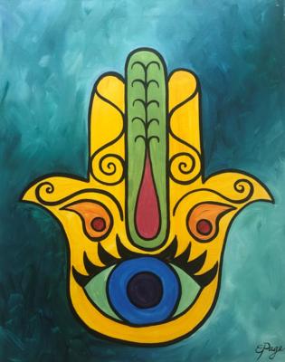 Kit de Pintura: Hamsa (Canvas Mediano 12x16)