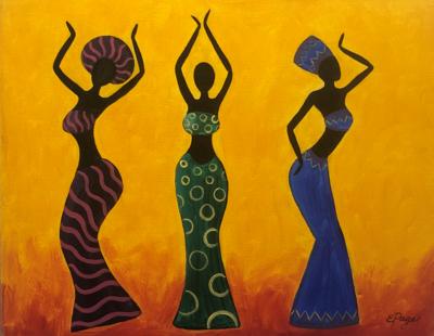 Kit de Pintura: Black Magic (Canvas Mediano 12x16)