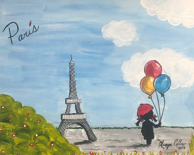 Kit de Pintura: The Eiffel Tower  (Canvas Grande 16x20)